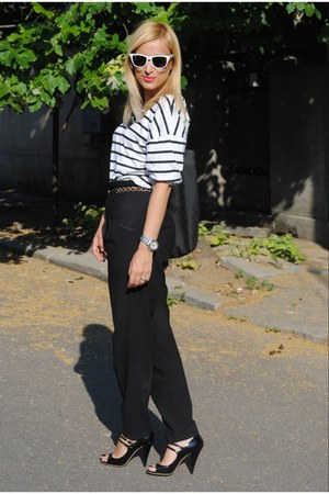Gucci bag - Zara blouse - Zara pants - Miu Miu sandals