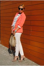 Zara blouse - BLANCO blazer - Miu Miu bag - H&M sandals - Zara pants