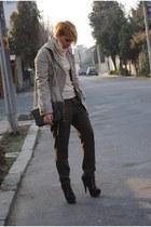 Mango jacket - asos boots - Zara bag