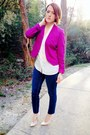 Magenta-the-limited-jacket-off-white-express-shirt-neutral-shoedazzle-pumps