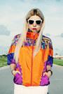 Carrot-orange-jacket-white-skirt-white-jeffrey-campbell-wedges