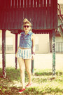 Navy-jean-express-vest-red-vans-shoes-sky-blue-jeans-vintage-shorts