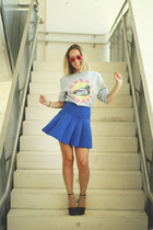 Ray Ban sunglasses - Zara wedges - Moises Nieto sweatshirt