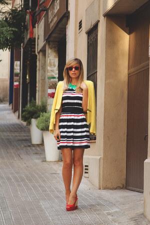 Sfera necklace - Sheinside dress - Zara blazer - ray-ban sunglasses