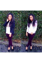 crimson H&M jeans - black Zara shoes - black H&M blazer