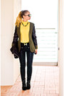 Olive-green-sheinside-jacket-black-forever-21-bag-olive-green-h-m-necklace
