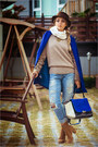 Bronze-charles-keith-boots-blue-sheinside-coat