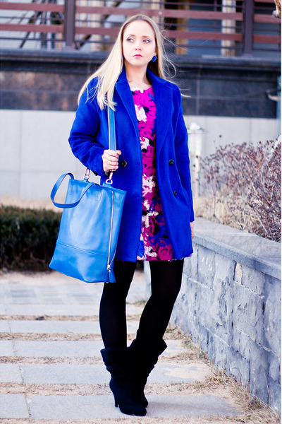 Sheinside coat - nowIStyle dress - nowIStyle bag