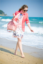 white sammydress watch - white Udobuy dress - hot pink Sheinside blazer