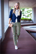 mustard Sheinside purse - light yellow Choies pants - white awwdore blouse