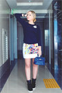 Blue-sheinside-coat-navy-nowistyle-top-white-romwe-skirt