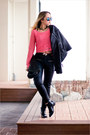Black-oasap-boots-black-armani-exchange-jacket-black-forever-21-bag