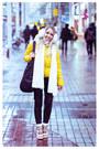 Yellow-oasap-jacket-black-the-travel-club-bag-black-romwe-pants