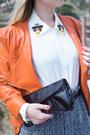 White-ecugo-blouse-light-orange-sheinside-jacket