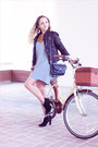 Navy-nowistyle-dress-black-armani-exchange-jacket-navy-nowistyle-bag