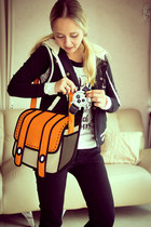 light orange Miss Nabi bag - black Guess jeans - black Forever 21 vest