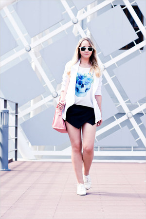 white Miss Nabi shoes - light pink OASAP bag - black Sheinside shorts