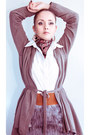 Brown-miss-nabi-bag-heather-gray-miss-nabi-skirt