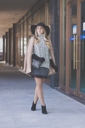 coat - sweater - bag - skirt