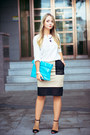 Turquoise-blue-count-the-sheep-bag-eggshell-front-raw-skirt