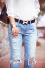 Sky-blue-8-seconds-jeans-black-chicwish-bag-cream-oasap-ring