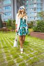White-chicwish-blazer-white-kate-spade-bag-turquoise-blue-zerouv-sunglasses