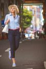 Light-blue-asos-shirt-white-kate-spade-bag-sky-blue-daniel-wellington-watch
