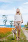 Topshop-sweater-gucci-bag-oasap-belt-zara-heels