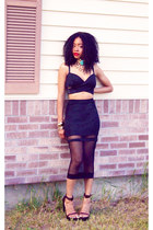 Nastygal Shadow Stripe Skirt skirt - Nephilm Necklace necklace