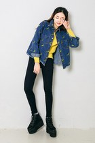 yubsshop boots - navy yubsshop jacket - yellow yubsshop sweater