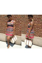 Walmart dress - eggshell joy boston Gucci bag - brown aviator rayban sunglasses