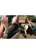 nastygal shorts - nastygal top - nastygal heels - nastygal bracelet