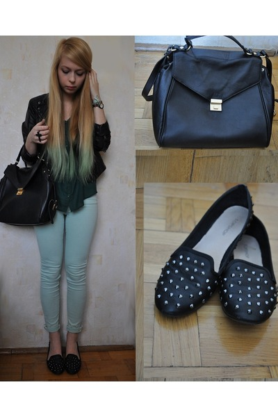 Topshop loafers - Zara bag