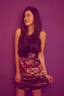 Purple-single-dress-dress