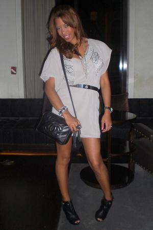Zara dress - vintage belt - Chanel purse - Nyla shoes