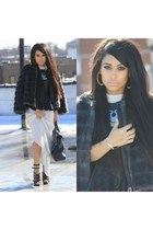 ann taylor jacket - 31 Phillip Lim bag - Zara blouse - Armani Exchange necklace