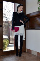 black Vero jacket - hot pink zar bag