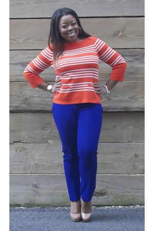 J Crew sweater - ann taylor pants - Steve Madden heels