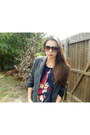 Dark-brown-firmoo-sunglasses-gray-thrifted-blazer-navy-h-m-t-shirt