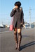 pink Bottega Veneta purse - gray untitled boots - gray Max & Co coat