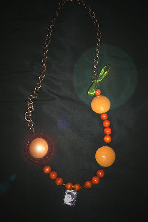 orange Hand Made necklace
