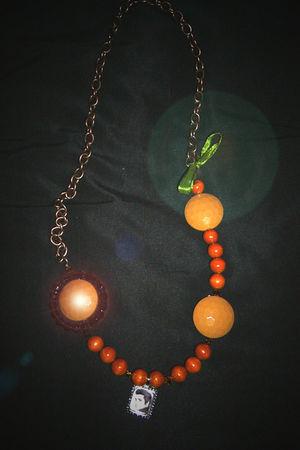 orange Hand Made necklace