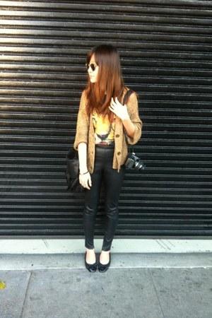 Topshop pants - Topshop shirt - PROENZA SCHOULER bag - American Apparel cardigan
