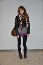 black h&m divided jacket - gray Topshop shirt - purple H&M shirt - black Cheap M