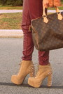 Tan-jeffery-campbell-boots-bronze-zara-jacket-brown-lv-bag