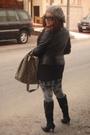 Black-mango-jacket-silver-h-m-leggings-black-vintage-boots-gray-guess-acce