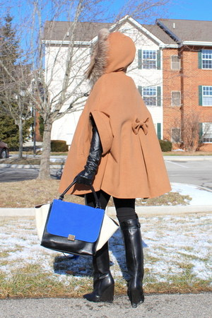 cape Dino Direct coat - Zara boots - Celine bag
