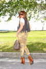 Brown-urban-outfitters-boots-bronze-leopard-print-topshop-jeans