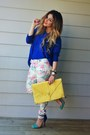 Blue-color-blocking-zara-heels-blue-oversized-romwe-sweater-yellow-asos-bag
