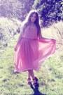 Pink-primark-dress-tan-topshop-sandals